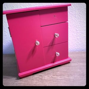 Hot pink jewelry box
